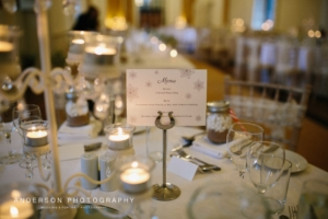 Sarah and Leigh - Bespoke menus by Nikki Swift Designs. Photography: http://andersonphotography.org.uk