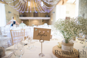 Danielle and Owen - Bespoke kraft table names by Nikki Swift Designs. Photography: http://ryan-welch.co.uk